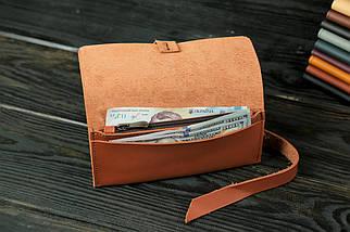 Гаманець клатч шкіряний з закруткою, Шкіра Grand, колір Коньяк, фото 3