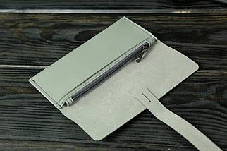 Гаманець клатч шкіряний з закруткою, Шкіра Grand, колір Сірий, фото 2
