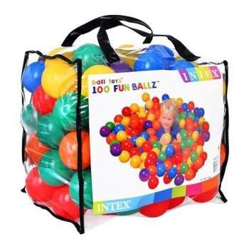 Мячики 100 шт Intex 49600 для палаток и сухого бассейна 8 мм