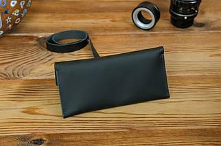 Гаманець клатч шкіряний з закруткою, Шкіра Grand, колір Чорний, фото 2