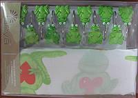 Штора для ванной 180х180 Arya Frog с лягушками