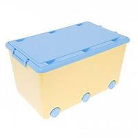 Ящик для игрушек на колесах Tega Chomik  yellow-light blue
