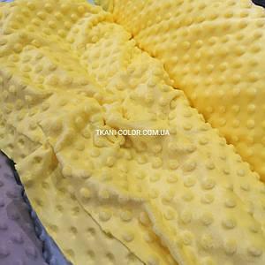 Ткань плюш Минки пупырышки желтый