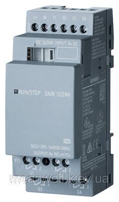 6ED1055-1MB00-0BA2  LOGO! DM8 12/24R Дискретный модуль расширения LOGO!8
