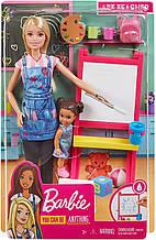 Лялька Барбі Вчитель малювання Я можу бути - Barbie Art Teacher Playset Blonde with Doll