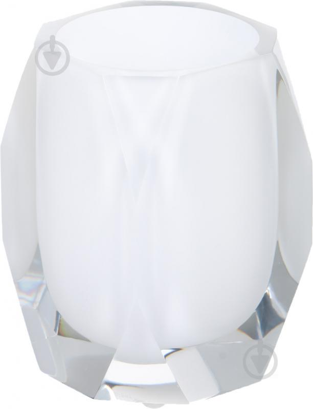 Стакан для зубных щеток Luna Diamond белый