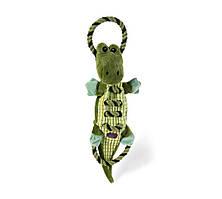 Іграшка для собак Петстейджес Крокодил велика Gator Ropes-A-Go-Gо