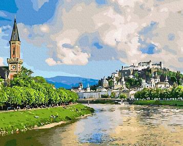 Картины по номерам 40х50 см Brushme Городок у реки (GX 31164)