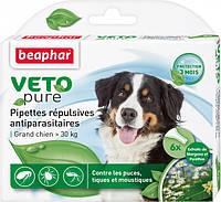 Краплі Beaphar Bio Spot on dog від бліх та кліщів для собак більше 30 кг №6/упаковка