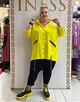Рубашка женская желтая Luani батал 21-722