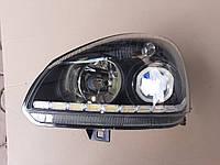 Фара ваз Приора 2170 2171 2172 Линза  квадрат,  бегающий поворотник, чёрный корпус, фото 1