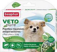 Краплі Beaphar Bio Spot on dog від бліх та кліщів для собак до 15 кг №3/упаковка