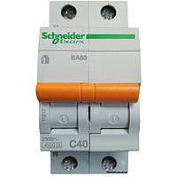 Автомат 2п 40а Schneider Electric Домовой 11217