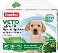 Краплі Beaphar Bio Spot on dog від бліх та кліщів для щенковг №3/упаковка