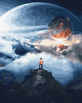 Картины по номерам 40х50 см Brushme Космический путешественник (GX 31970)