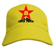Летняя молодёжная кепка унисекс нанесение  Super-Puper Star
