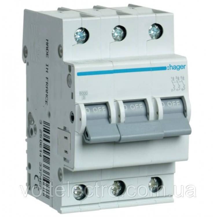 Автоматичний вимикач In=10 А, 3п, С, 6 kA