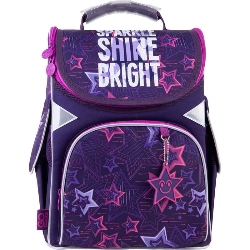 Рюкзак каркасный школьный GoPack 5001 Shine bright GO21-5001S-6  34х26х13 см  900 г  11 л  фиолетовый
