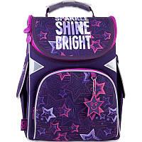 Рюкзак каркасный школьный GoPack 5001 Shine bright GO21-5001S-6  34х26х13 см  900 г  11 л  фиолетовый, фото 1
