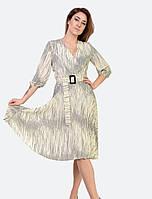 Ошатне світле плаття в красивий принт розміри 46-54
