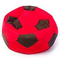 Бескаркасное кресло мяч 60 х 60 см Красно-чёрное