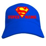 Женская кепка бейсболка с  Super мама с логотипом Супермен