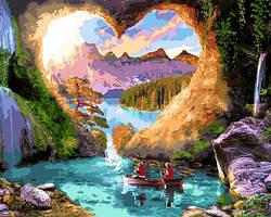 Картины по номерам 40×50 см Mariposa Романтичные скалы (Q 2257)