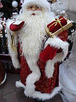 Новогодний Дед Мороз в красной шубе 100см