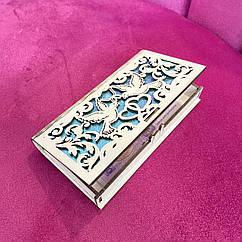 Коробочка деревянная для денег 001