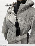 """Жіночий весняний плащ великих розмірів """"Ліза"""" з кружевним візерунком, фото 3"""