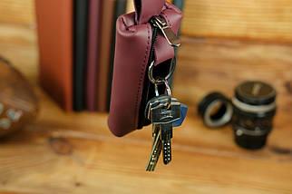 Ключница на молнии, Кожа Grand, цвет Бордо, фото 2