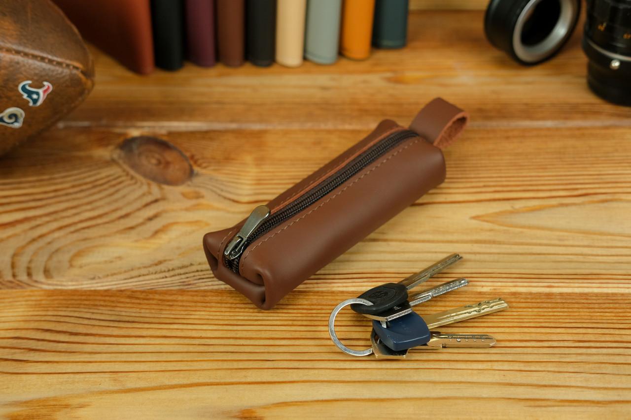 Ключниця на блискавці, Шкіра Grand, колір Віскі