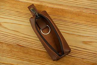 Ключниця на блискавці, Шкіра Grand, колір Віскі, фото 3