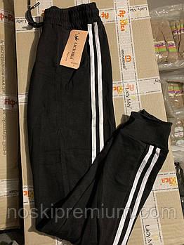 Джоггеры женские хлопок Ласточка, размер L, XL, 2XL, черные, А5034-1