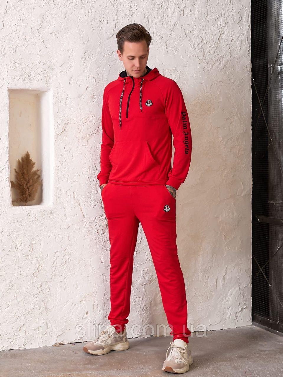 Чоловічий спортивний костюм Moncler, червоний