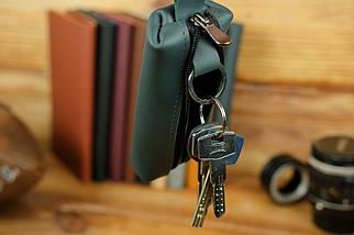 Ключница на молнии, Кожа Grand, цвет Зеленый, фото 2