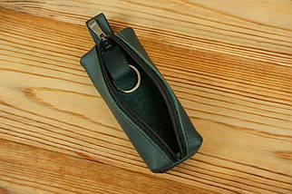 Ключница на молнии, Кожа Grand, цвет Зеленый, фото 3