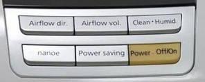 Частина корпусу клавіатура панелі для очисника повітря Panasonic FFE34630902S | Клавіатура панелі FFE34630902S