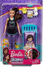 Уценка! Кукла Барби Скиппер няня Спокойной ночи Barbie Skipper Babysitters Inc. Bedtime Playset