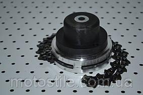 Косильная головка с цепками под резьбу для бензокосы