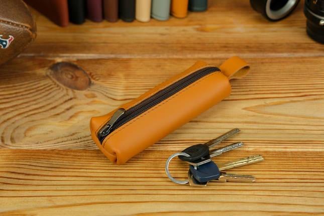 Ключница на молнии, Кожа Grand, цвет Янтарь, фото 2