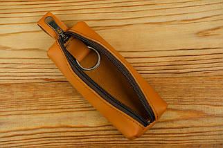 Ключница на молнии, Кожа Grand, цвет Янтарь, фото 3