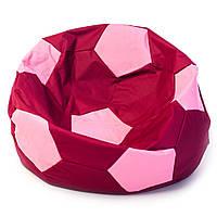 Бескаркасное кресло мяч 60 х 60 см Бордово-розовое