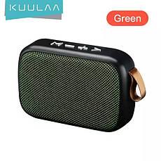 Беспроводная Bluetooth колонка Kuulaa с поддержкой FM-радио, USB, microSD карт Black, фото 3