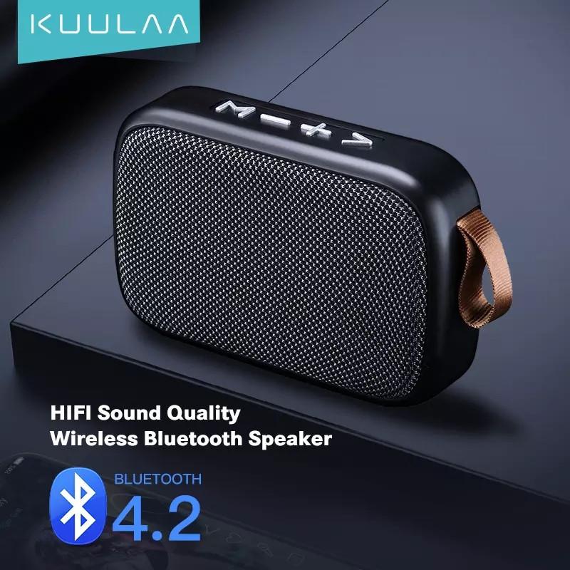 Беспроводная Bluetooth колонка Kuulaa с поддержкой FM-радио, USB, microSD карт Black