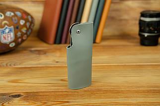 Ключниця на кнопці №16, шкіра Grand, колір Сірий, фото 3