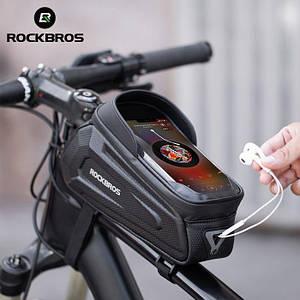 Велосипедная сумка на раму RockBros B68 сенсорная, водонепроницаемая