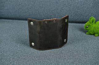Ключниця на кнопках Вінтажна шкіра колір Шоколад, фото 3