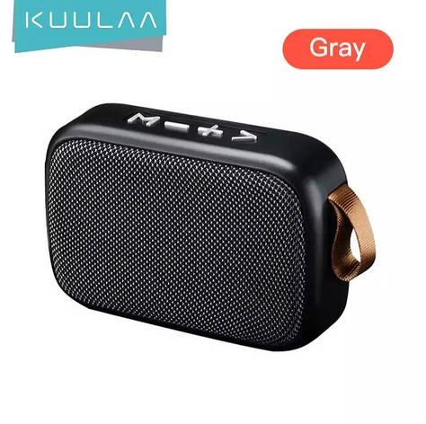 Беспроводная Bluetooth колонка Kuulaa с поддержкой FM-радио, USB, microSD карт Gray, фото 2