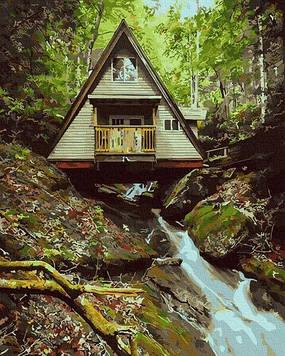 Картины по номерам 40х50 см Brushme Домик в лесу (GX 32365)
